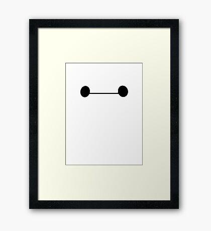 Big hero face Framed Print