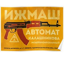 AK-47 (Yellow) Poster