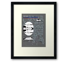 Owners Manual - Cylon Raider Framed Print