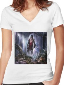 Lone Warrior Women's Fitted V-Neck T-Shirt