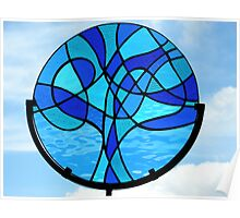 """Abstract """"Tree of Life"""" (Blues) Poster"""