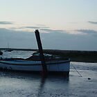 Boat at Blakeney by Richard Elston