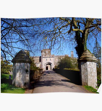 Entrance to Powderham Castle Poster
