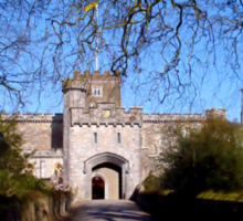 Entrance to Powderham Castle Sticker