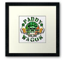 Irish Leprechaun Skull: Paddy off the Wagon Framed Print