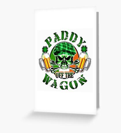 Irish Leprechaun Skull: Paddy off the Wagon Greeting Card