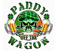 Irish Leprechaun Skull: Paddy off the Wagon Photographic Print