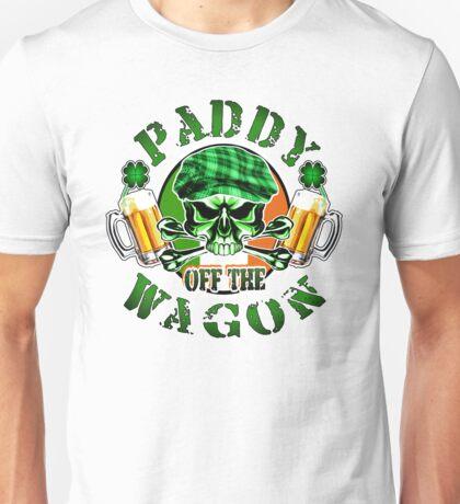 Irish Leprechaun Skull: Paddy off the Wagon Unisex T-Shirt