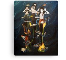 Silly mermaids Canvas Print