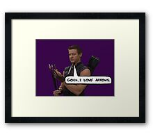 Renner Loves Arrows Framed Print