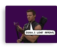 Renner Loves Arrows Canvas Print