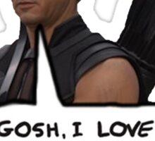 Renner Loves Arrows Sticker