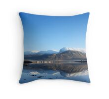 Ben Nevis on a cold December afternoon. Throw Pillow