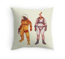 Earthworm Jim & Psycrow Throw Pillow