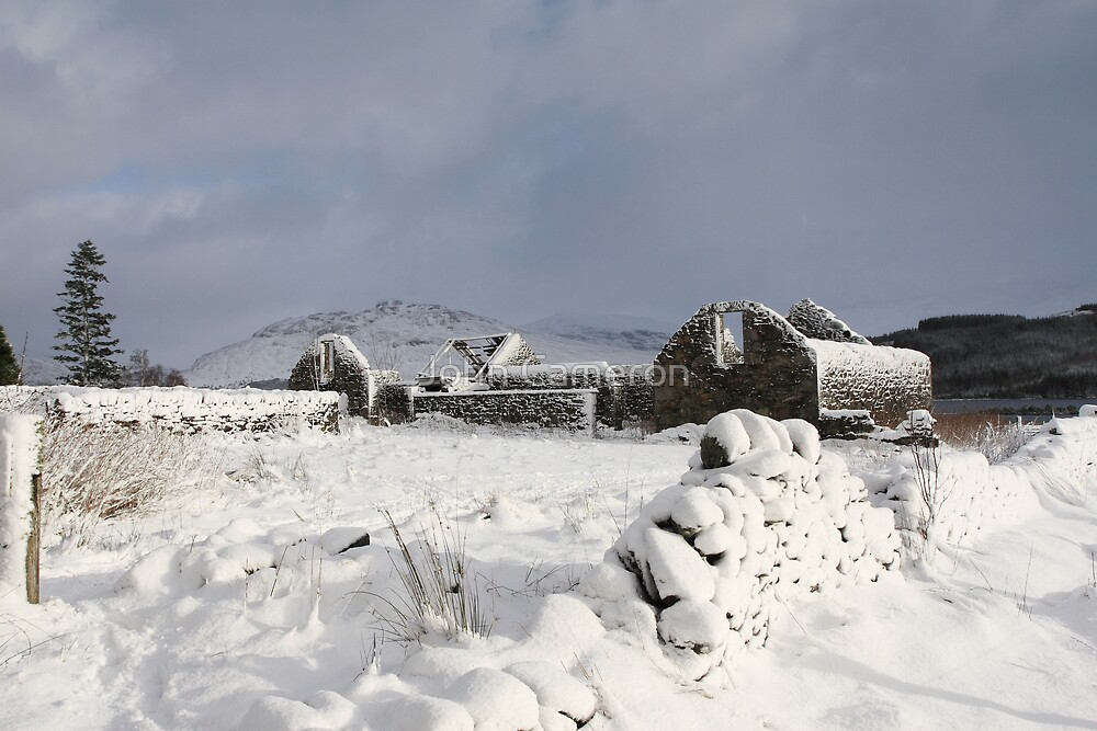 Laggan in the depths of winter. by John Cameron