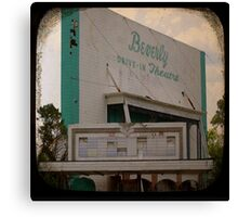 Blast From The Past! Retro Drive in Theater Canvas Print