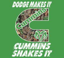 Dodge Makes It Cummins Shakes It  Kids Clothes
