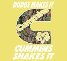 Dodge Makes It Cummins Shakes It  One Piece - Short Sleeve