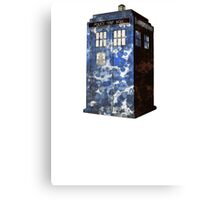 Dr Who Police Box T-Shirt Canvas Print