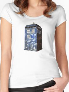 Dr Who Police Box T-Shirt Women's Fitted Scoop T-Shirt