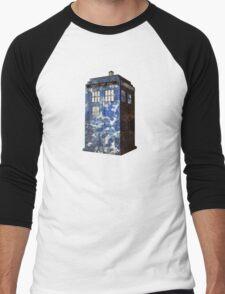 Dr Who Police Box T-Shirt Men's Baseball ¾ T-Shirt
