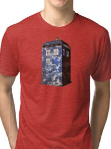 Dr Who Police Box T-Shirt Tri-blend T-Shirt