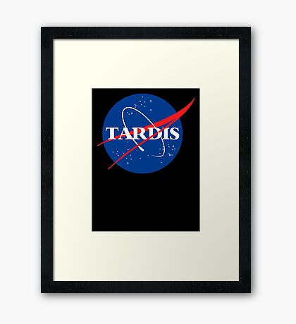 Dr Who Tardis T-Shirt Framed Print