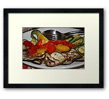 Italian Grilled Veg Framed Print