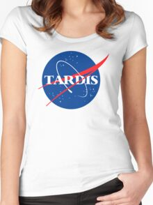 Dr Who Tardis T-Shirt Women's Fitted Scoop T-Shirt