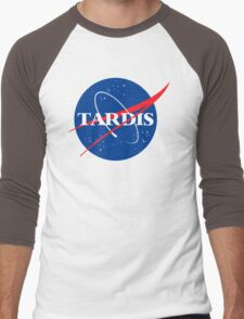 Dr Who Tardis T-Shirt Men's Baseball ¾ T-Shirt