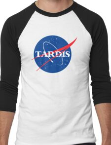 Dr Who Tardis T-Shirt Men's Baseball ¾ T-Shirt