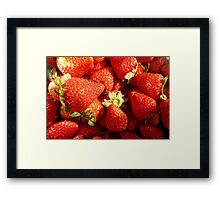 Strawberries sweet, rich and juicy. Framed Print