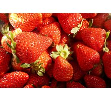 Strawberries sweet, rich and juicy. Photographic Print