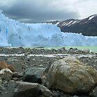 Perito Moreno Glacier and Stone - Argentina by John Kardys
