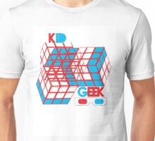 3D Cube Kid Geek Unisex T-Shirt