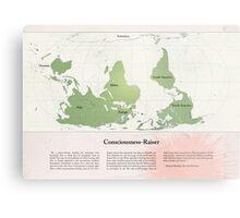 Consciousness-Raiser | South-Up Cartography  Metal Print