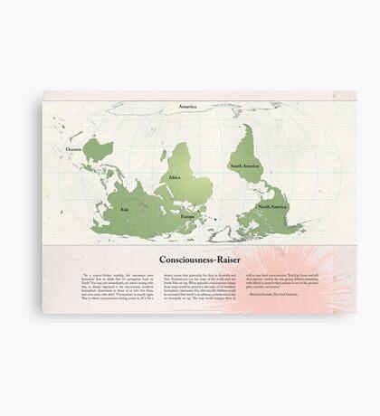 Consciousness-Raiser | South-Up Cartography  Canvas Print