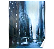 Midtown New York Abstract Realism Poster