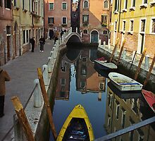 Venice Canal Scene by Reese Forbes