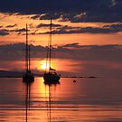 Sunset from Rhu,Arisaig. by John Cameron