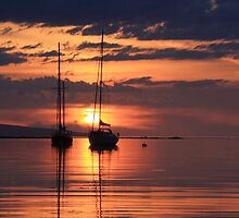 Sunset from Rhu,Arisaig. by John Cameron