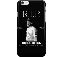 RIP Boss Hogg shirt iPhone Case/Skin