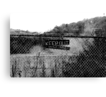 KEEP OUT  It Works Sometimes! Canvas Print