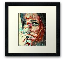 For a minute there I lost myself Framed Print