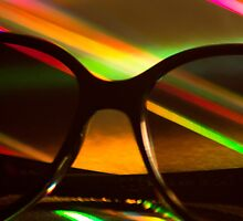 Womens sunglasses on colors silhouette photograph by edwardolive
