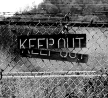 KEEP OUT  It Works Sometimes! Sticker