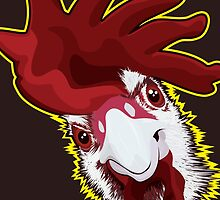 Angry Chicken by FredzArt