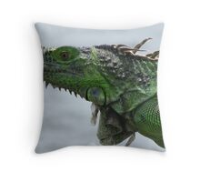 modern dinosaur Throw Pillow