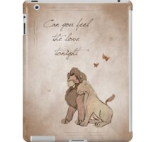 The Lion King inspired valentine. iPad Case/Skin