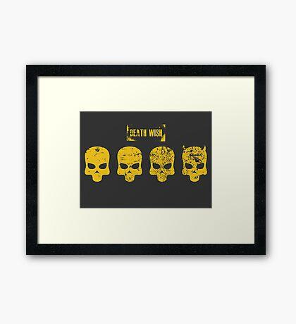 Payday 2 Skulls - Death Wish Framed Print